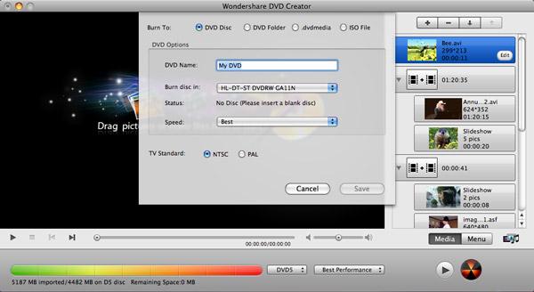 creare dvd su mac