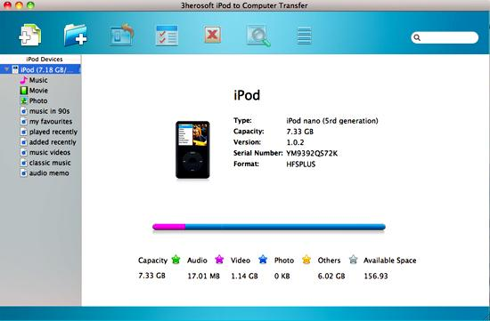 3herosoft ipod to computer transfer for mac