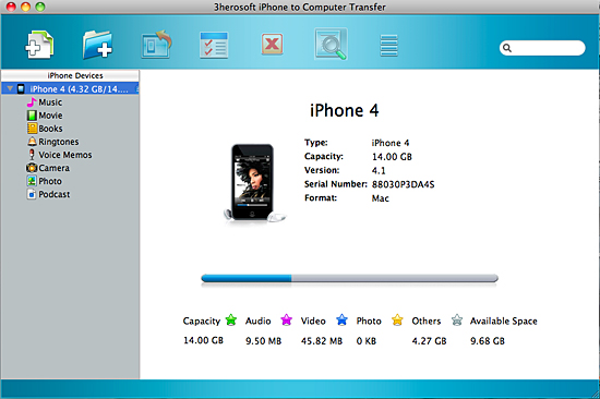 3herosoft iphone to computer transfer for mac
