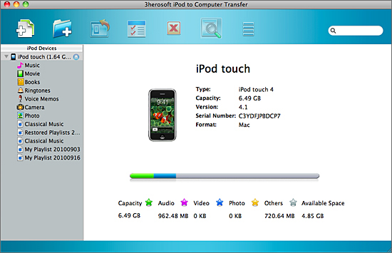 3herosoft ipod to computer transfer for mac