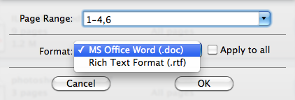 PDF in word su mac