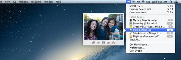 Droplr - The Easiest Way to Share images, documents, files and links on Mac.