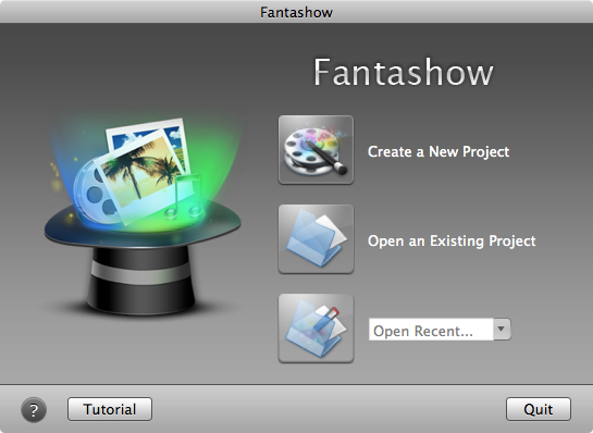 Mac Fantashow Welcome Screen