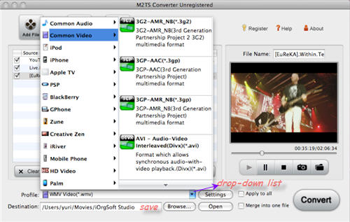 Convert M2TS to Video files on Mac OSX.