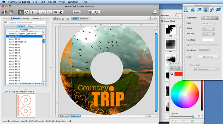 Creare cover cd e dvd su mac programmi per mac for Software gratuito per il layout del garage