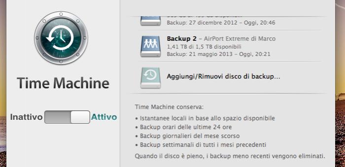 Risultati immagini per aggiungi disco backup mac