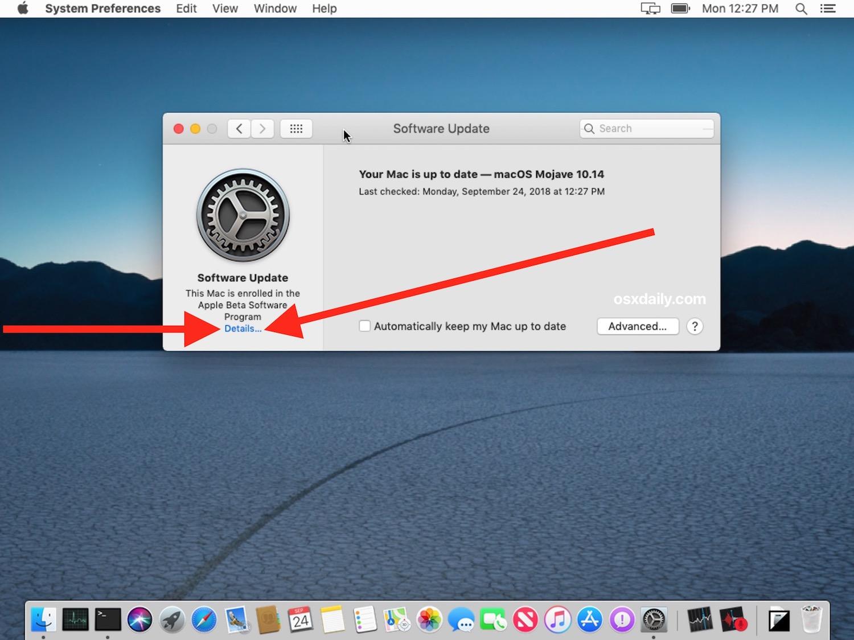 Come lasciare il test beta macOS e interrompere la ricezione degli aggiornamenti per il software di sistema beta &quot;width =&quot; 610 &quot;height =&quot; 457 &quot;class =&quot; aligncenter size-large wp-image-78247 &quot;/&gt; </p> <li> Un messaggio pop-up apparirà sullo schermo che legge &quot;Questo Mac è registrato nel programma software Apple Beta. Vuoi ripristinare le impostazioni di aggiornamento predefinite? Tutti gli aggiornamenti precedenti non verranno rimossi e questo Mac non riceverà più aggiornamenti beta. &quot;</li> <li> Scegli &quot;Ripristina impostazioni predefinite&quot; per disattivare il programma MacOS Beta e interrompere la ricezione degli aggiornamenti software beta per MacOS </li> <p> <img src=