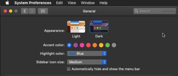 Come abilitare il tema Dark Mode in Mac OS &quot;width =&quot; 610 &quot;height =&quot; 260 &quot;class =&quot; aligncenter size-large wp-image-78451 &quot;/&gt; </p> <p> Il tema Modalità scura disponibile in MacOS Mojave 10.14 in avanti offre un&#39;interfaccia visiva e un ambiente desktop esclusivi su cui lavorare, spostando quasi tutti gli elementi visivi su schermo in grigi scuri e neri. Per molti utenti Mac, il tema Dark è forse la nuova caratteristica più popolare che arriva in MacOS Mojave e il nuovo tema dell&#39;interfaccia utente potrebbe essere l&#39;unico motivo per cui alcuni utenti Mac aggiornano all&#39;ultima versione del software di sistema. </p> <p><!-- Quick Adsense WordPress Plugin: http://quickadsense.com/ --></p> <p> Puoi facilmente abilitare il tema della modalità Dark in MacOS mentre inizialmente configura MacOS, oppure puoi passare dalla modalità Dark alla modalità Light in qualsiasi momento regolando le impostazioni di sistema di Mac OS. </p> <p> <span id=