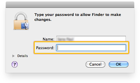Enter your Mac user password.