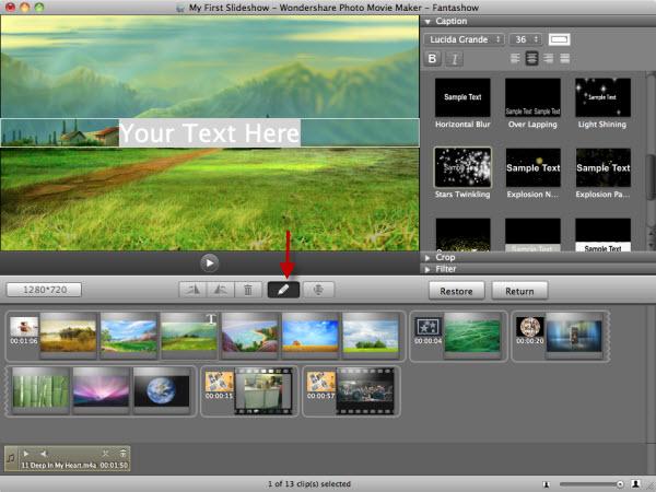 Mac Fantashow Editing