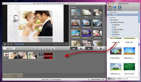Mac Fantashow Add Media Files