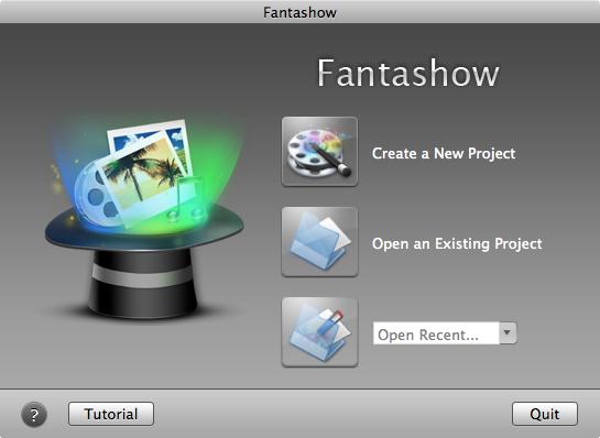 Mac Fantashow Welcome Screen