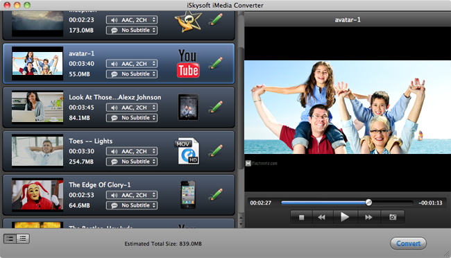 Added DVD or Video to iMedia Converter for Mac