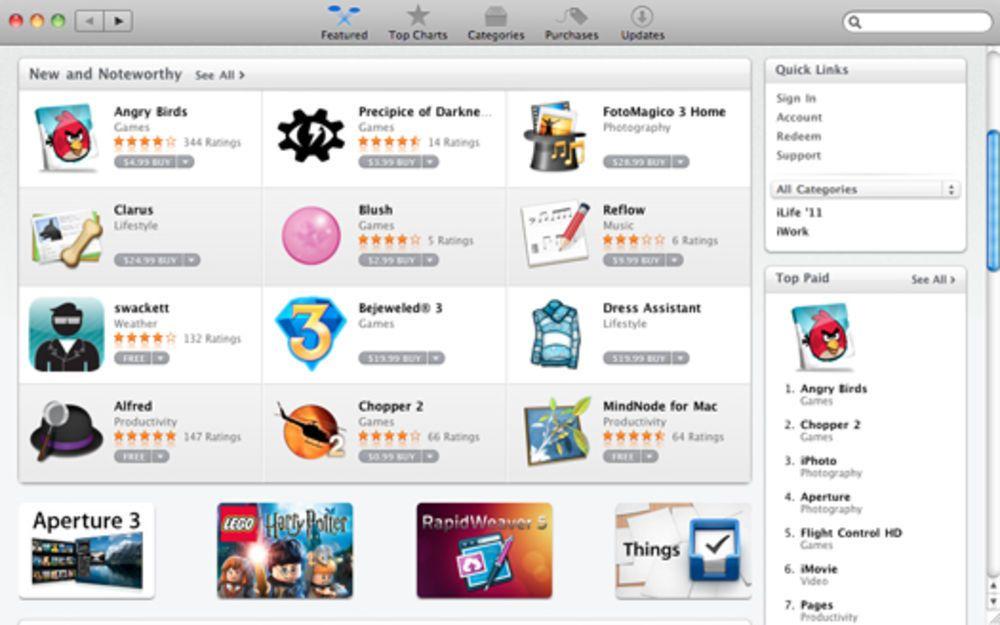 Risultati immagini per app store mac
