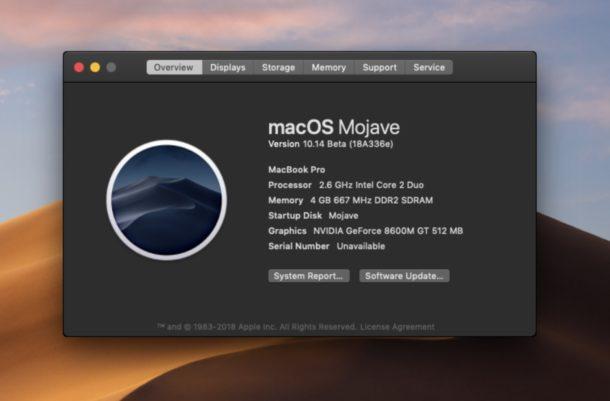 """Come eseguire MacOS Mojave su Mac non supportati """"width ="""" 610 """"height ="""" 401 """"class ="""" aligncenter size-large wp-image-76041 """"/> </p> <p> Come forse saprai, l'elenco di MacOS Mojave compatibili con Mac è più rigido delle versioni precedenti del software di sistema Mac OS, ma questo non significa necessariamente che non puoi installare ed eseguire macOS Mojave su alcuni Mac non supportati. Se sei un utente Mac avanzato e sei ragionevolmente coraggioso (e disponi di backup adeguati), allora potresti essere in grado di installare ed eseguire MacOS Mojave su hardware Mac non supportato, grazie a uno strumento gratuito di terze parti di il wizard tecnico conosciuto come """"DosDude"""". </p> <p><!-- Quick Adsense WordPress Plugin: http://quickadsense.com/ --></p> <p> <span id="""