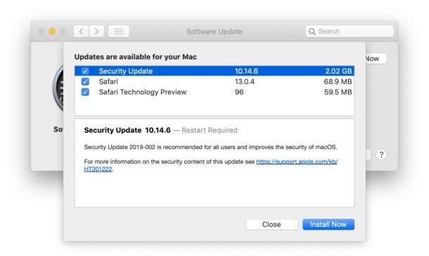 """download aggiornamento di sicurezza macOS Mojave """"larghezza ="""" 610 """"altezza ="""" 364 """"class ="""" aligncenter size-large wp-image-93941 """"/> </noscript><br /> <!-- Quick Adsense WordPress Plugin: http://quickadsense.com/ --></p> <h3>Link per il download per MacOS Catalina 10.15.2 e aggiornamenti di sicurezza per Mojave e High Sierra</h3> <p>È anche possibile installare e aggiornare macOS 10.15.2 con i file di aggiornamento del pacchetto, anziché tramite Aggiornamento software. L'uso degli aggiornamenti combo per MacOS è semplice ed è molto simile all'installazione di qualsiasi altro pacchetto software.</p> <h3>Note di rilascio di MacOS Catalina 10.15.2</h3> <p>Le note di rilascio che accompagnano il download di MacOS Catalina 10.15.2 sono le seguenti:</p> <blockquote><p>L'aggiornamento macOS Catalina 10.15.2 migliora la stabilità, l'affidabilità e le prestazioni del tuo Mac ed è consigliato a tutti gli utenti. Questo aggiornamento aggiunge le seguenti funzionalità:</p> <p>Apple News<br /> – Nuovo layout per Apple News + storie dal Wall Street Journal e da altri importanti quotidiani</p> <p>Azioni<br /> – Ottieni collegamenti a storie correlate o più storie della stessa pubblicazione alla fine di un articolo<br /> – Le etichette """"Breaking"""" e """"Developing"""" per Top Stories<br /> – Storie da ppleApple News sono ora disponibile in Canada in inglese e francese<br /> – Questo aggiornamento include anche le seguenti correzioni e miglioramenti:</p> <p>Musica<br /> – Ripristina la visualizzazione del browser delle colonne per la gestione della libreria musicale<br /> – Risolve un problema che potrebbe impedire la visualizzazione delle copertine degli album<br /> – Risolve un problema che potrebbe ripristinare le impostazioni dell'equalizzatore musicale durante la riproduzione</p> <p>iTunes Remote<br /> – Aggiunge il supporto per l'utilizzo di iPhone o iPad per controllare in remoto le app di musica e TV su un Mac</p> <p>Foto<br /> – Risolve un problema che potrebbe far apparire alcu"""
