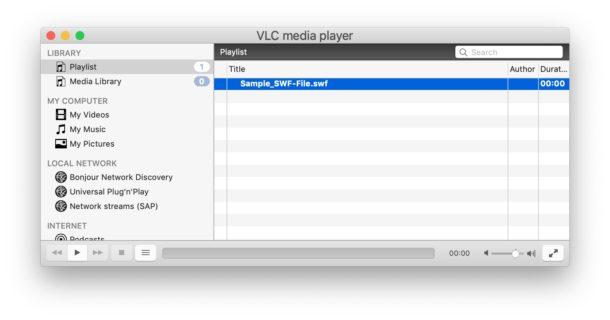 """Riproduzione di file SWF su Mac con VLC """"width ="""" 610 """"height ="""" 320 """"class ="""" aligncenter size-large wp-image-93025 """"/> </noscript></p> <p>VLC è una grande app in generale per la visualizzazione di file multimediali di tutti i tipi di formati, che vanno da FLAC a video MKV, inoltre può riprodurre facilmente più video in una cartella con playlist e fare molto di più. È un utile visualizzatore di contenuti multimediali e un'utilità da avere sul Mac, anche se non ne hai mai bisogno per visualizzare un file SWF.</p> <p><!-- Quick Adsense WordPress Plugin: http://quickadsense.com/ --></p> <h3>Come visualizzare e riprodurre file SWF su Mac con browser Web</h3> <p>Se hai già installato il plug-in Flash Player o non ti dispiace installare e abilitare il plug-in Adobe Flash in un browser Web (che non è privo di rischi), puoi visualizzare i file SWF in qualsiasi momento trascinando e rilasciare il file SWF nel browser Web con un lettore SWF.</p> <p>Ad esempio, Google Chrome, Opera o Firefox possono riprodurre file SWF se hanno installato il plug-in Adobe Flash. Non è consigliabile installare Flash in Safari su Mac.</p> <p>La maggior parte dei browser Web moderni non avrà più Flash Player installato per impostazione predefinita o sta deprecando il plug-in a causa di prestazioni o altri motivi. Molti browser Web meno recenti hanno ancora Flash Player disponibile come opzione oppure integrato e in bundle con il browser. Ad esempio, le versioni precedenti di Chrome avevano un plug-in Flash che poteva essere disattivato o attivato a seconda delle preferenze dell'utente. Se usi Chrome, assicurati di aggiornare Flash Player tramite Google Chrome in modo che esegua sempre la versione più recente del plug-in disponibile.</p> <p>Per motivi di sicurezza, in genere è una buona idea non installare Flash in generale o disinstallare Flash dal Mac in generale, quindi utilizzarlo solo in modalità sandbox all'interno di un'app browser come Chrome.</p> <h3>Altri modi per visualizzare e aprire """