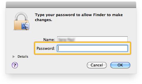 Enter your Mac user password.